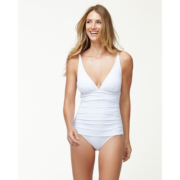 Tommy Bahama Pearl Over-The-Shoulder V-Neck One-Piece SZ 8