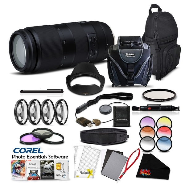 Tamron 100-400mm f/4.5-6.3 Di VC USD Lens for Canon EF Pro Accessory Kit - black