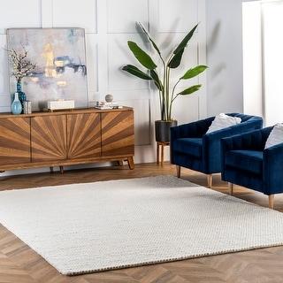 Link to nuLOOM Geometric Handmade Casual Braided Wool Area Rug Similar Items in As Is