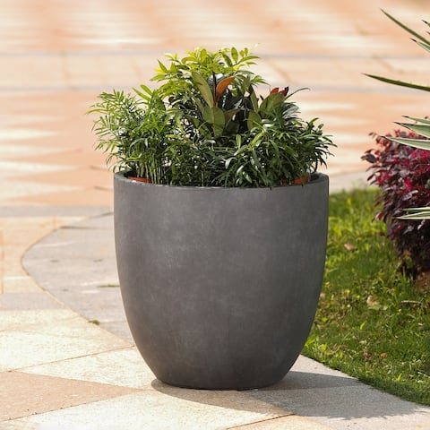 Round Stone Finish Planter