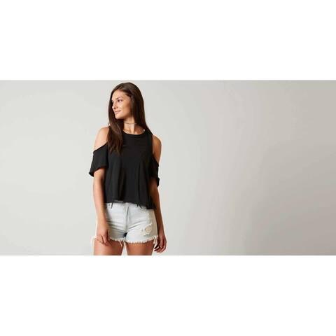 Free People Women's Taurus Shirt in Black  Size: Medium