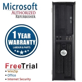 Refurbished Dell OptiPlex 760 Desktop Intel Core 2 Duo E6550 2.33G 4G DDR2 160G DVD Win 10 Home 1 Year Warranty - Silver