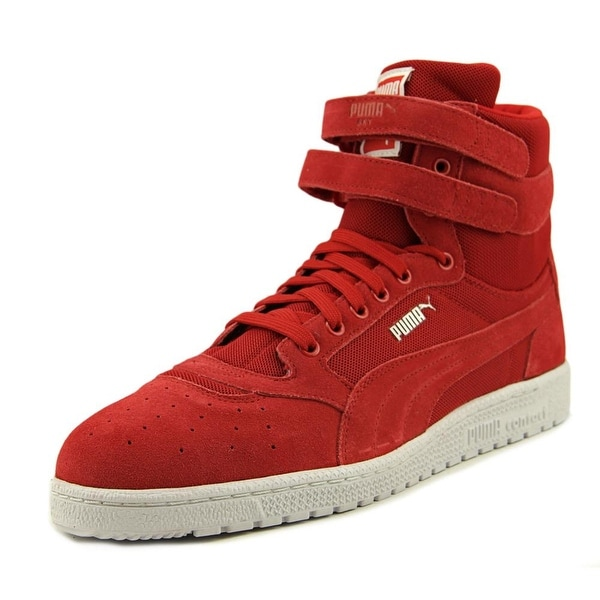 Puma Sky ll Hi Core Men Round Toe Suede Red Sneakers
