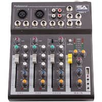 Seismic Audio - Slider 4 - 4 Channel Mixer Console with USB Interface