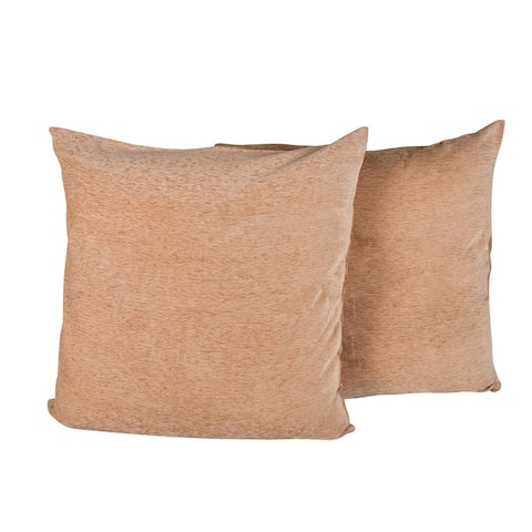 """Elegant Velvet Chenille Fabric Solid Pair of Pillow Shams 26 x 26"""""""