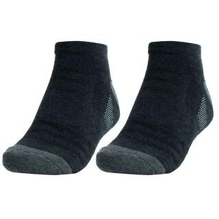 Men Exercise Athletic Stockings Compression Sport Ankle Socks Dark Gray Pair
