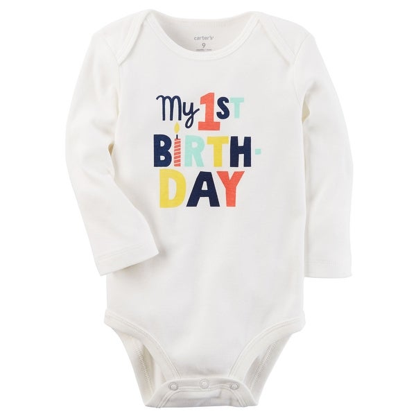 12114f3cd1b8e Carter's Baby Boys' My 1st Birthday Collectible Bodysuit, 9 Months