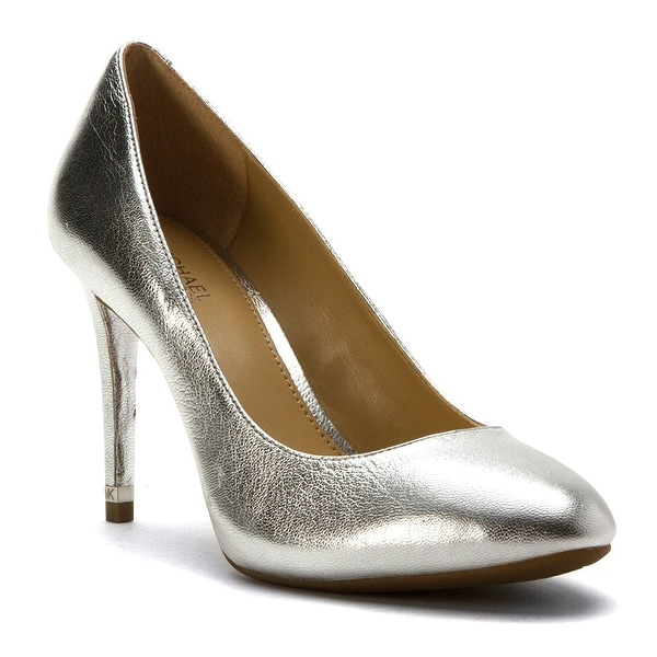 MICHAEL Michael Kors Womens Ashby Flex Pump Leather Closed Toe Classic Pumps