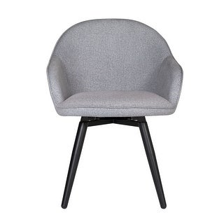 Offex Home Dome Swivel Dining/Office Chair with Arms in Heather Grey