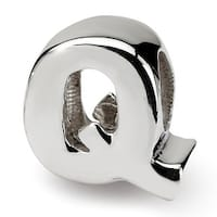 Sterling Silver Reflections Letter Q Bead (4mm Diameter Hole)