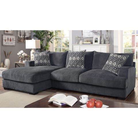 Furniture of America Kintra Contemporary L-Shaped Sectional