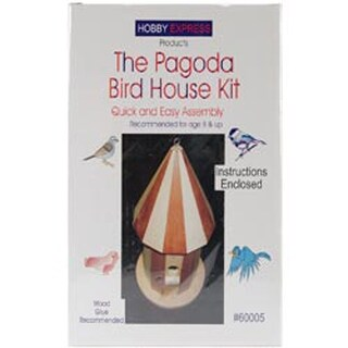 Pagoda Bird House - Unfinished Wood Kit