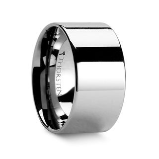 CHARLESTON Flat Polished Finish Tungsten Carbide Band - 12 mm