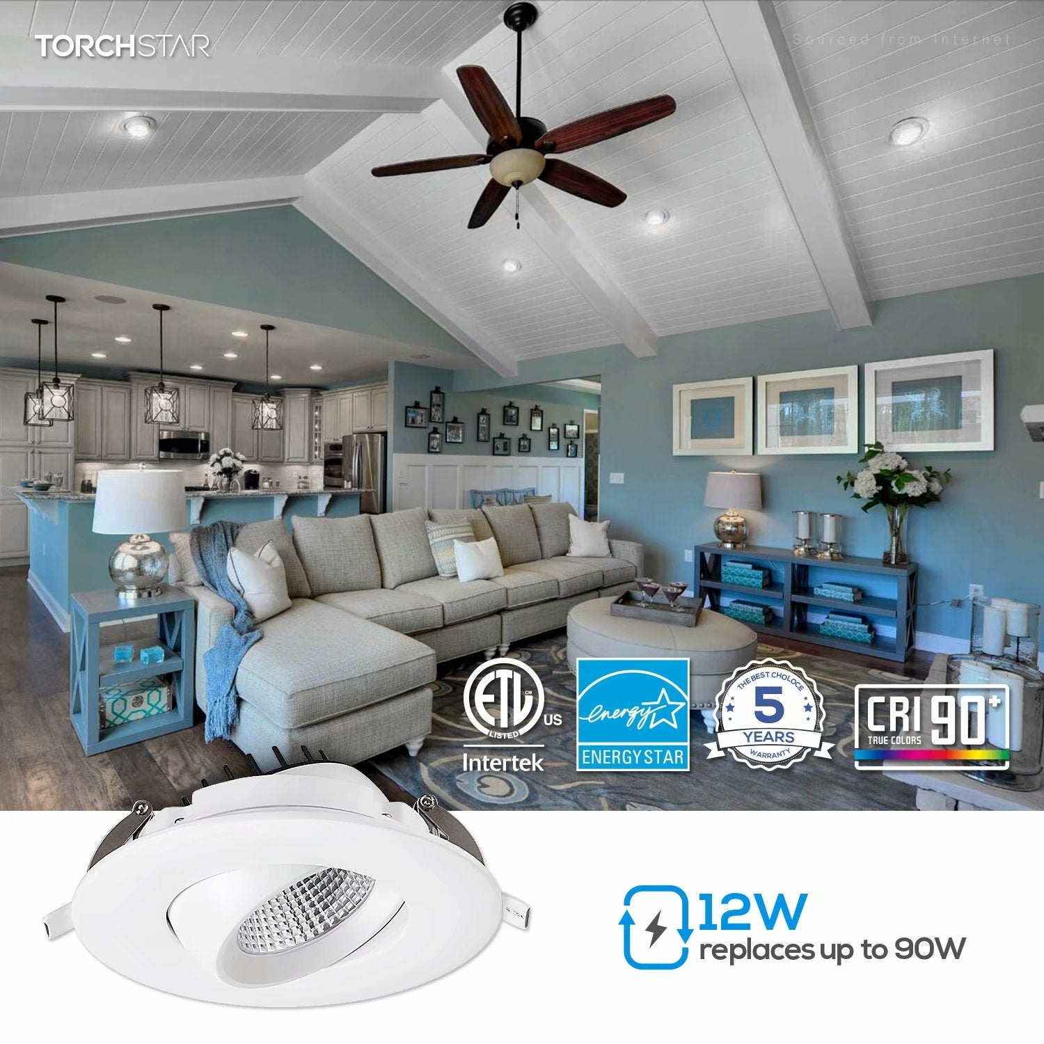 4 Inch Gimbal Led Recessed Lighting