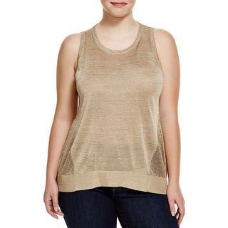 MICHAEL Michael Kors Womens Plus Tank Top Metallic Mesh https://ak1.ostkcdn.com/images/products/is/images/direct/2d953d80d19cf3f806c7139917cc719883e82c26/MICHAEL-Michael-Kors-Womens-Plus-Tank-Top-Metallic-Mesh.jpg?impolicy=medium