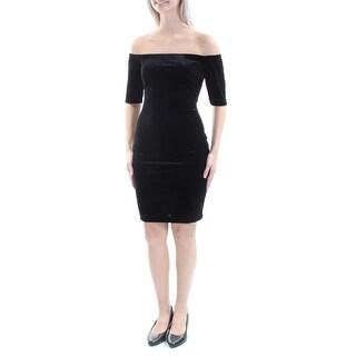 B DARLIN $59 Womens New 1170 Black Velvet Body Con Dress 9 Juniors B+B