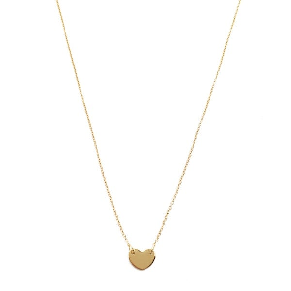 Honeycat Small Heart Charm Necklace (Delicate Jewelry)