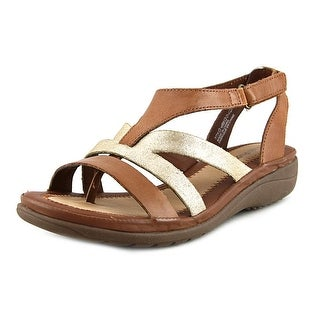 Hush Puppies Maben Keaton Women W Open Toe Synthetic Brown Gladiator Sandal