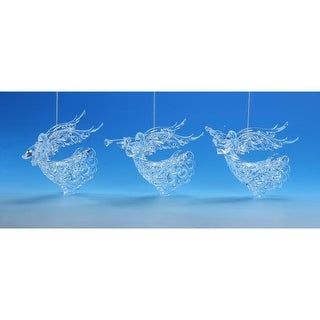 "Link to Set of 6 Clear Lace Angel Hanging Christmas Ornament 16.75"" Similar Items in Christmas Decorations"