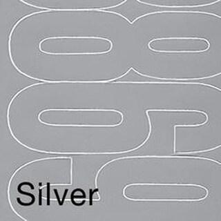 "Permanent Adhesive Vinyl Numbers 4"" 49/Pkg-Silver"