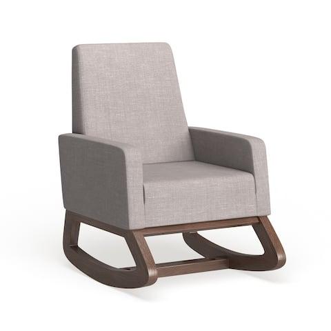 Carson Carrington Honningsvag Mid-century Modern Grey Upholstered Rocking Chair