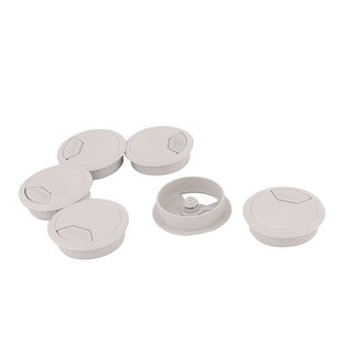 6pcs 52mm Dia Office Computer Desk Table Plastic Grommet Wire Cord Cable Hole Cover