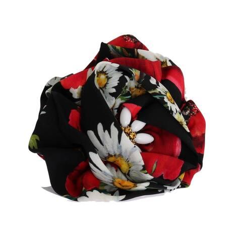 Dolce & Gabbana Multicolor Sunflower Silk Crystal Hair Women's Claw - One Size