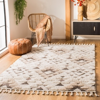 Link to Safavieh Moroccan Tassel Shag Kobi Moroccan Rug Similar Items in Rugs