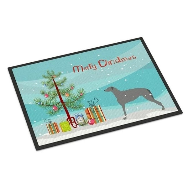 Carolines Treasures BB2914MAT Scottish Deerhound Merry Christmas Tree Indoor or Outdoor Mat 18x27