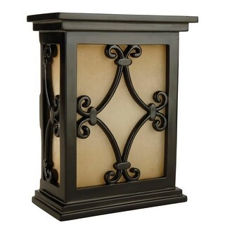 """Craftmade CH1515 Traditional 7"""" Wide Hand-Carved Door Chime with Tea-Stained Glass"""