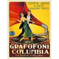 ''Grafofoni Columbia'' by Anon Vintage Advertising Art Print (36 x 24 in.)