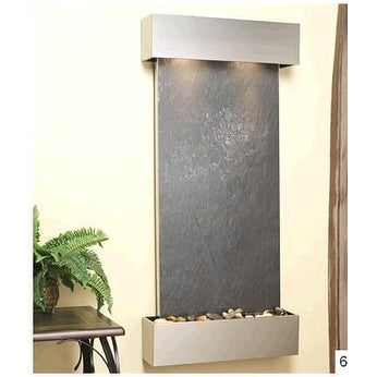 Adagio Cascade Springs Wall Fountain Black FeatherStone Stainless Steel - CSS201