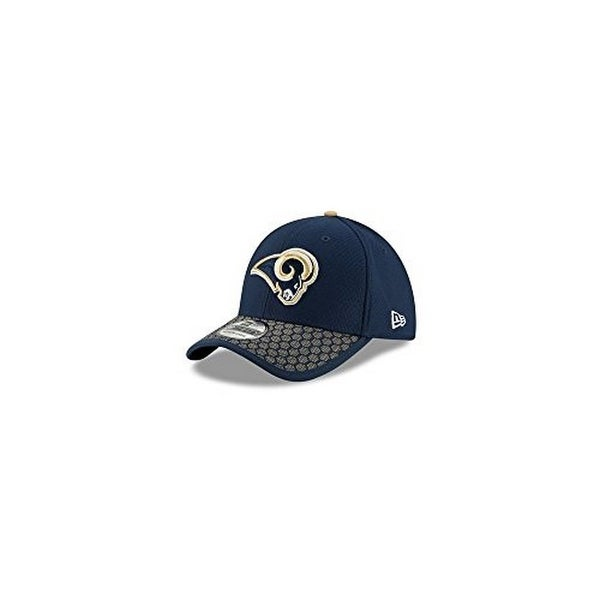 check out ad57c e6034 Shop New Era Mens Los Angeles Rams Sideline 2017 On-Field 39Thirty Flex Hat,  Navy - Free Shipping On Orders Over  45 - Overstock - 19489879