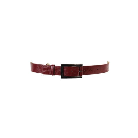 Style & Co. Red Glaze and Wrapped Buckle Pant Belt L