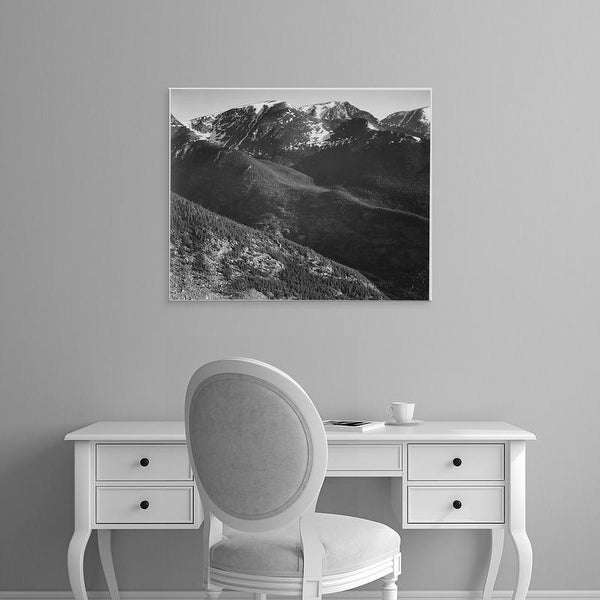 Easy Art Prints Ansel Adams's 'In Rocky Mountain National Park' Premium Canvas Art