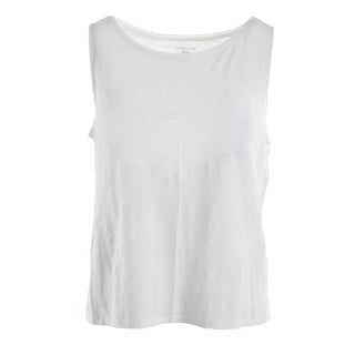 Eileen Fisher Womens Petites Linem Slub Casual Top - pp