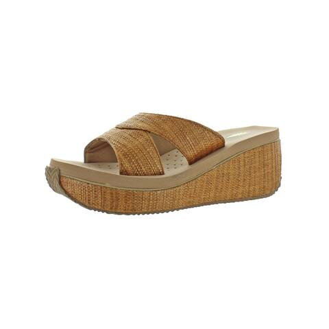 e57a44582250 Volatile Womens Howell Wedge Sandals Woven Textured