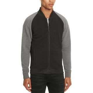 Kenneth Cole Reaction Men's Knit Textured Bomber Jacket Large