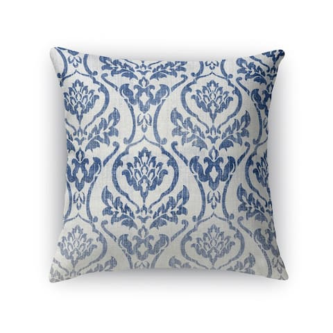 Kavka Designs blue/ white seabury accent pillow with insert