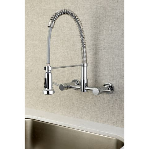 Concord 2-Handle Wall Mount Pull-Down Kitchen Faucet
