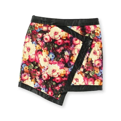 Mustard Seed Womens The Floral Asymmetrical Mini Skirt, Multicoloured, Small