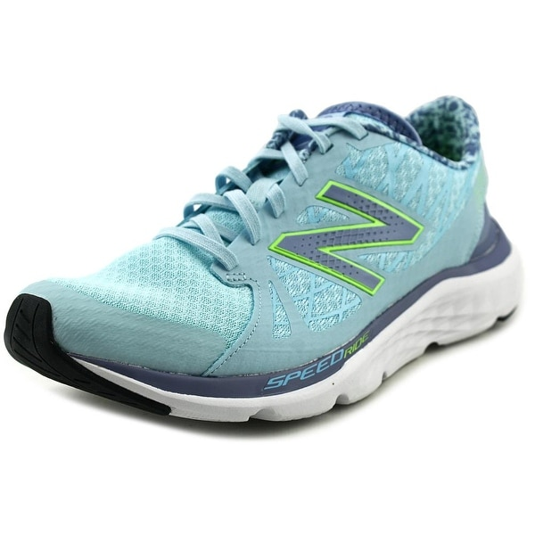New Balance W690 Women D Round Toe Synthetic Blue Running Shoe