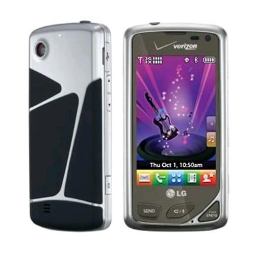 LG Chocolate Touch VX8575 Replica Dummy Phone / Toy Phone (Chrome & Black) (Bulk