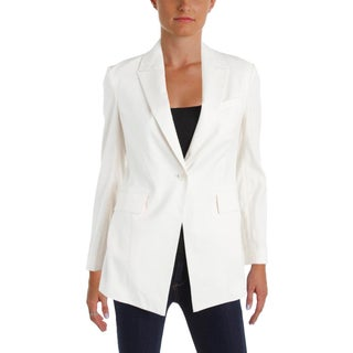 Theory Womens Etiennette One-Button Blazer Linen Blend Peak Collar (3 options available)