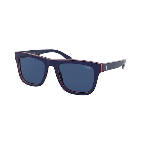 Polo PH4161 582980 52 Navy Blue/red/white/red/navy Man Pillow Sunglasses