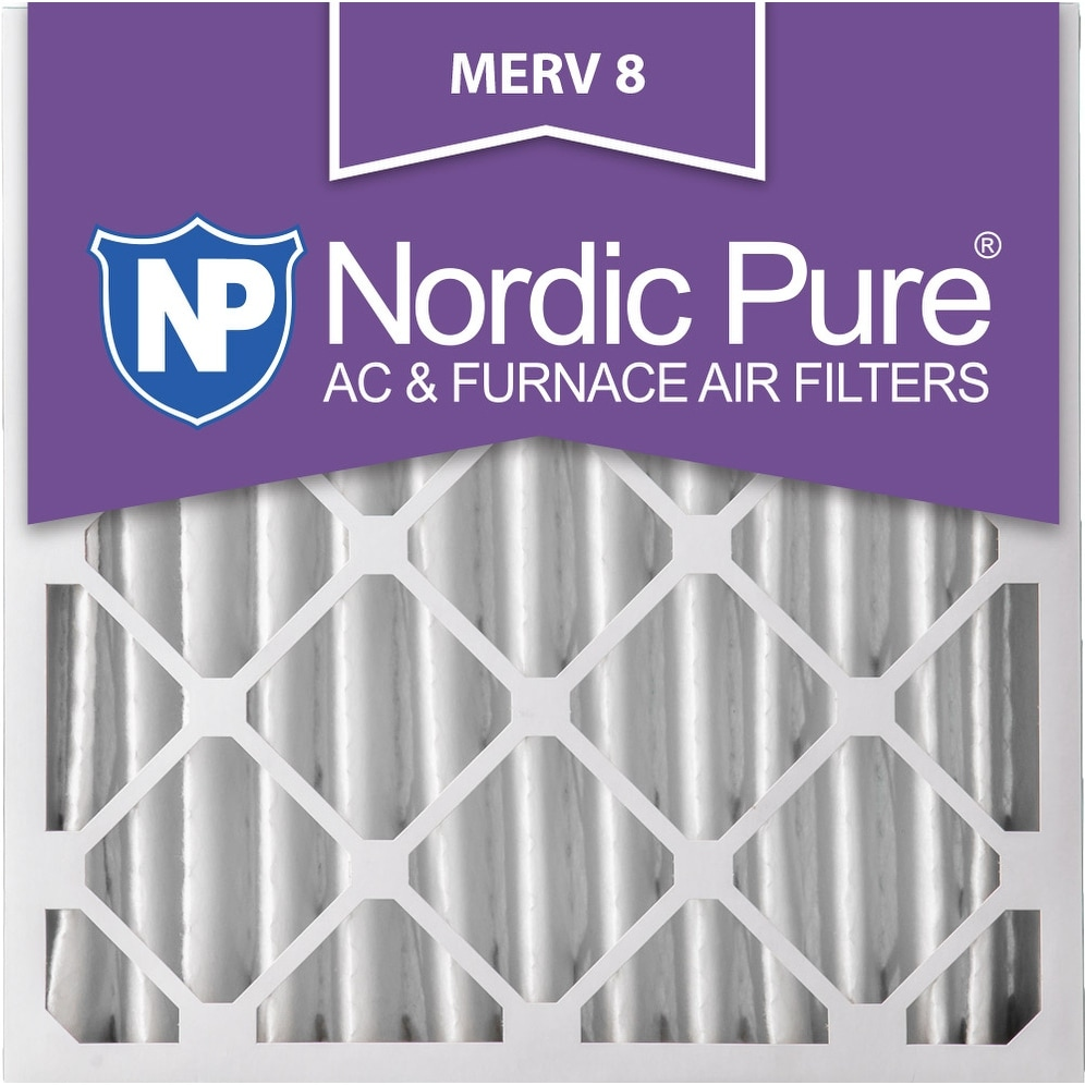 Nordic Pure 24x24x4 Pleated MERV 8 AC Furnace Air Filters Qty 1