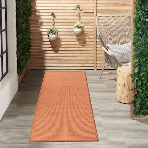 Nourison Positano Indoor/Outdoor Striped Solid Area Rug