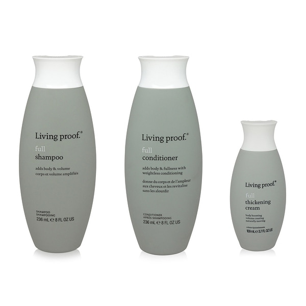 Living Proof Full Shampoo 8 Oz Full Conditioner 8 Oz Full Thickening Creme