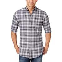 John Ashford Mens Palatine Button-Down Shirt Flannel Plaid