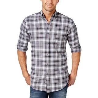 John Ashford Mens Palatine Button-Down Shirt Flannel Plaid (3 options available)